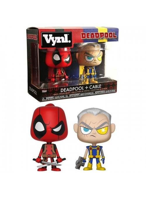 Figuras Vynl Deadpool & Cable - Marvel