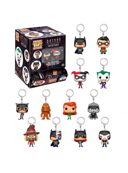 Llavero Pocket POP Mystery Batman Animated blindbags - DC Comics