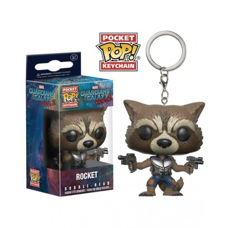 Llavero Pocket Funko POP Rocket - Guardianes de la Galaxia
