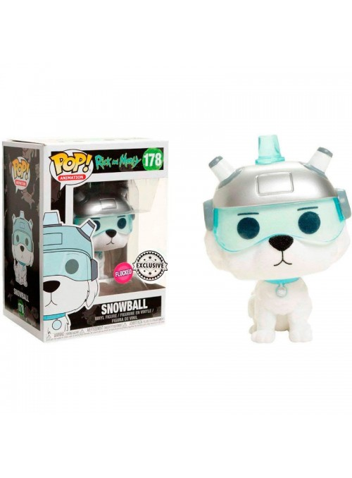 Figure POP Flocked Exclusive - Rick & Morty Snowball
