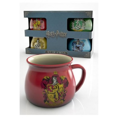 Pack de 4 Tazas Casas Hogwarts - Harry Potter