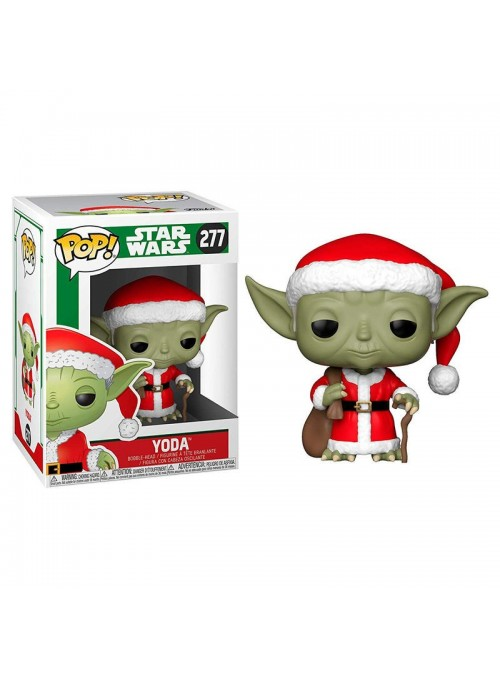 Figura POP Holiday Santa Yoda - Star Wars