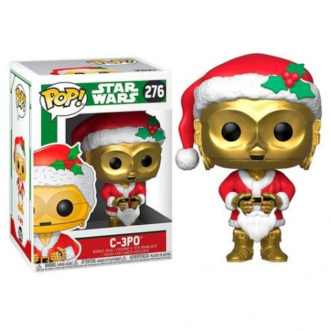 Figura POP Funko Holiday C-3PO as Santa - Star Wars
