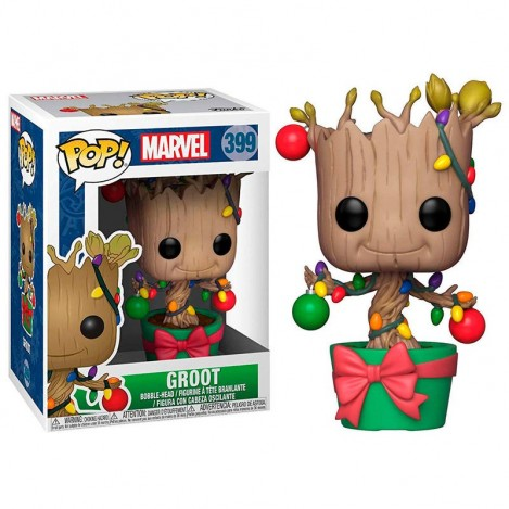 Figura POP Holiday Groot with Lights & Ornaments - Marvel