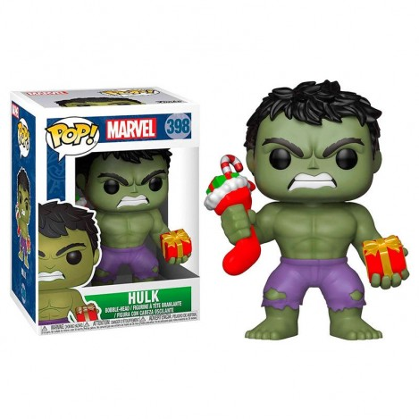 Figura Funko POP Holiday Hulk with Stocking & Plush - Marvel