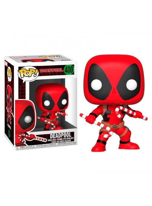 Figura Funko POP Holiday Deadpool with Candy Canes - Marvel
