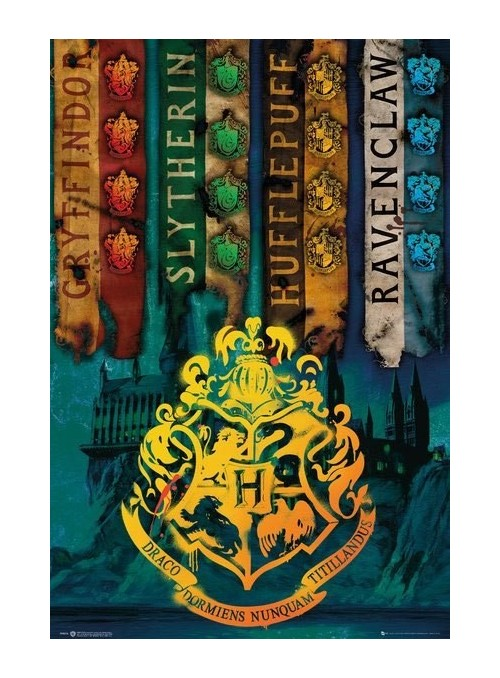 Póster House Flags 61 x 91 cm - Harry Potter