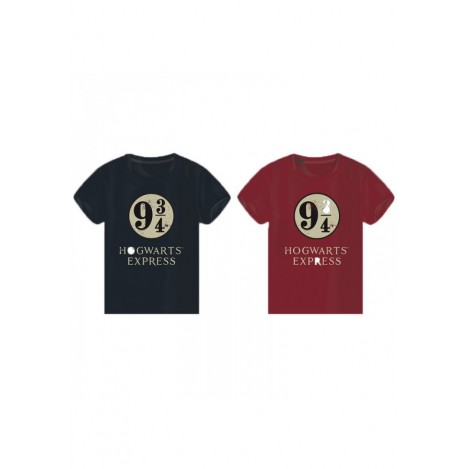 Camiseta Hogwarts Express 9 3/4 Azul/Roja - Harry Potter