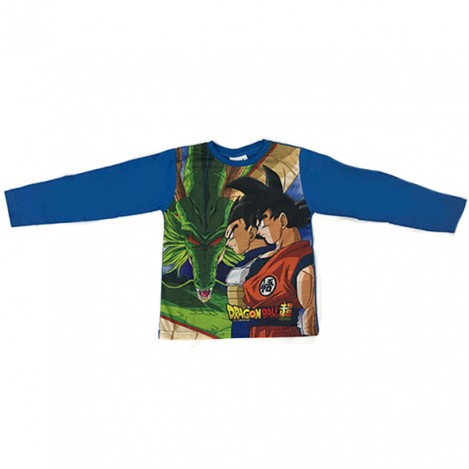 Camiseta manga larga infantil Azul Dragon ball