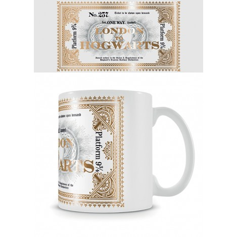 Taza Hogwarts Express Ticket - Harry Potter