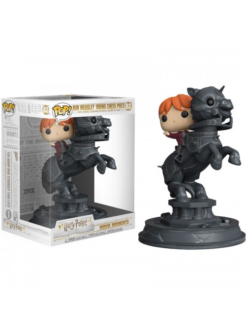 Figura POP Ron riding chess piece - Movie Moments Harry Potter