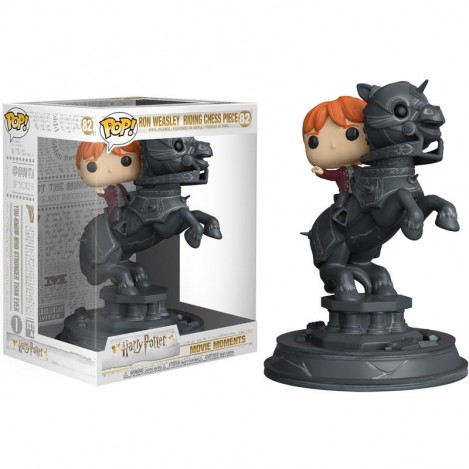 Figura Funko POP Ron riding chess piece - Movie Moments Harry Potter