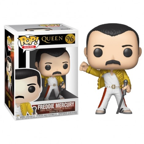Figura POP Freddie Mercury Wembley 1986 - Queen