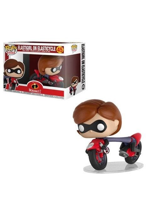 Figura Funko POP Elastigirl on Elasticycle 15 cm - Los Increíbles 2