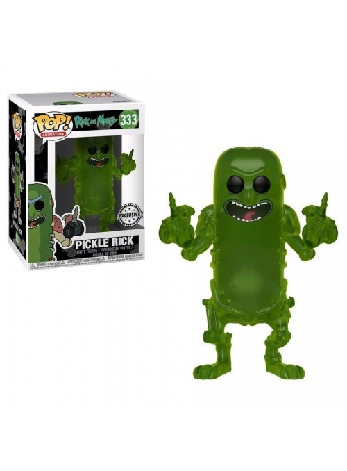 Figura Funkos POP Pickle Rick Translucent Exclusive - Rick and Morty