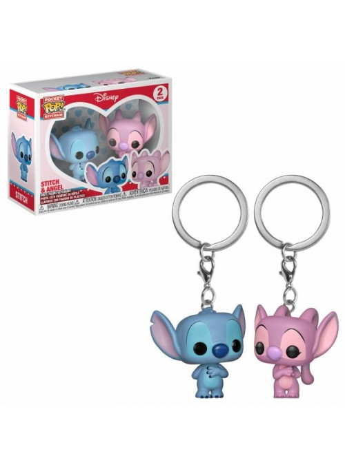 Set llavero Funko POP Stitch & Angel - Lilo & Stitch