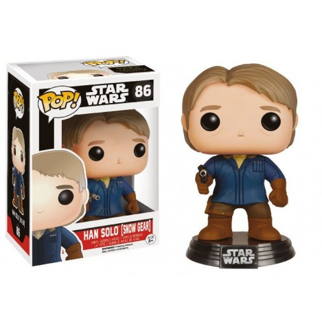 Figura Funko POP Cabezón Han Solo (Snow Gear) LC Exclusive - Star Wars Episode VII