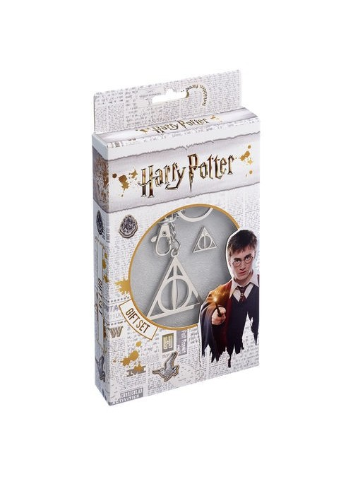 Set llavero + pin Deathly Hallows - Harry Potter