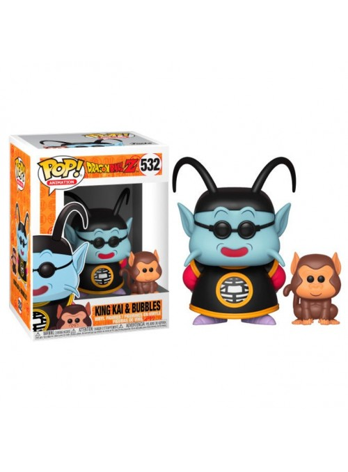 Figura Funko POP King Kai & Bubbles - Dragon Ball Z