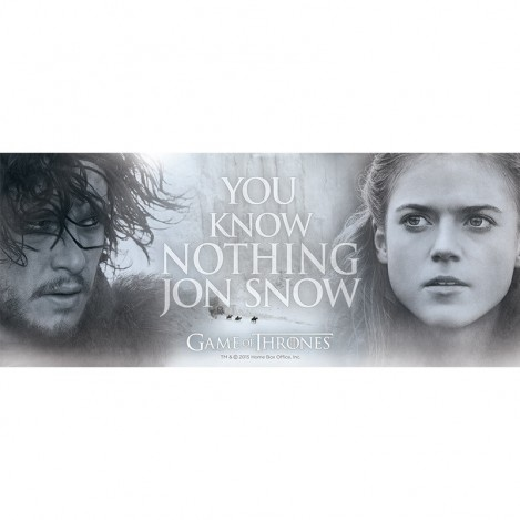 Taza ''You Know Nothing, Jon Snow'' 460ml - Juego de Tronos