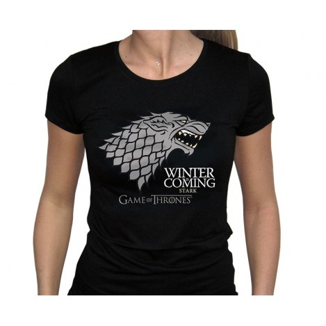 "T-shirt Women ""Winter Is Coming"" Black - Game of Thrones"