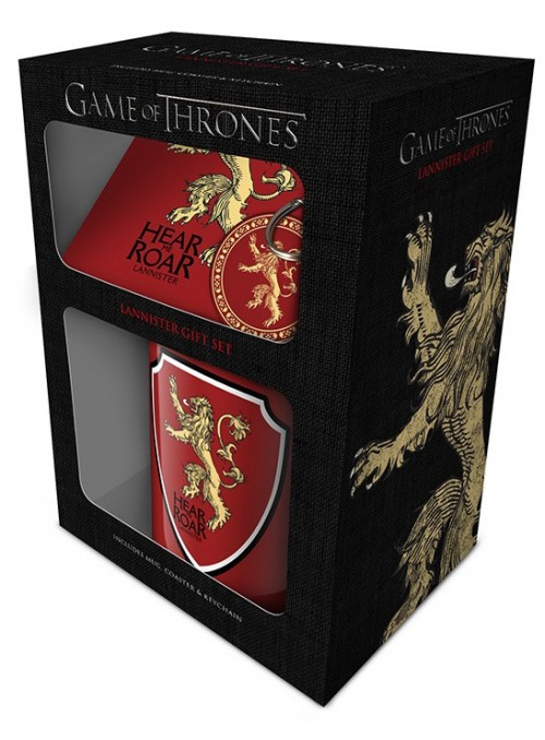 "Pack of Gift Cup + Keychain + Posavaso ""Lannister"" - Game of Thrones"