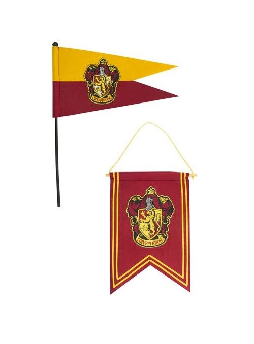 Harry Potter Set Banderín & Bandera Gryffindor - Harry Potter