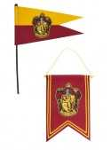 Set Banderín & Bandera Gryffindor - Harry Potter