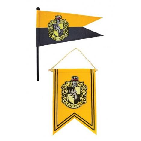 Set Banderín & Bandera Hufflepuff - Harry Potter