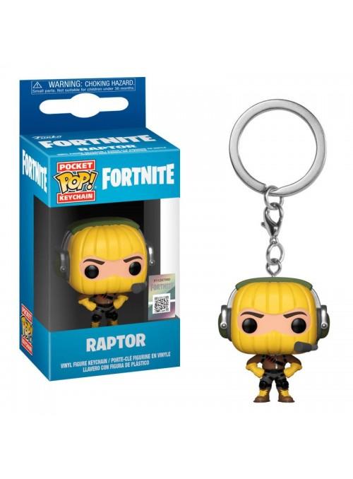 Llavero Pocket Funko POP Raptor - Fortnite