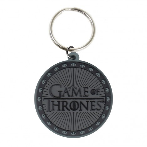 Keychain rubber Logo 6 cm-Game of Thrones