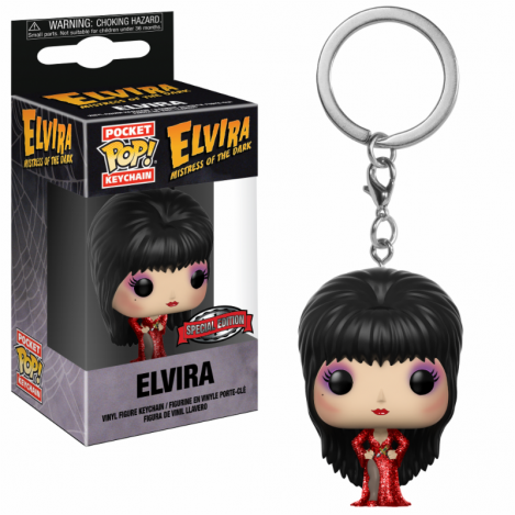 Llavero Pocket Funko POP Elvira Red Dress Exclusive - Horror