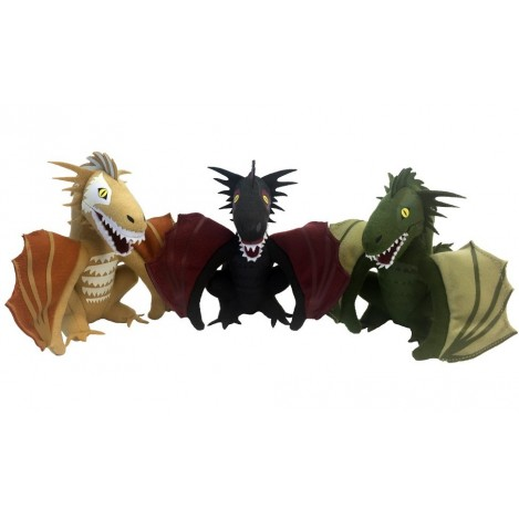 Set de 3 Peluches Dragons 2017 SDCC Convention Exclusive 13 cm- Juego de Tronos