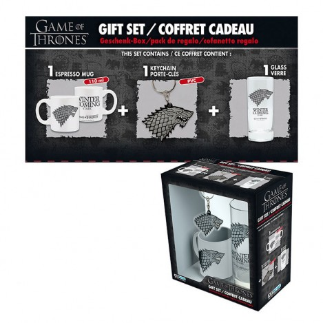 Keychain, Mug, and Glass of Stark - Game of Thrones