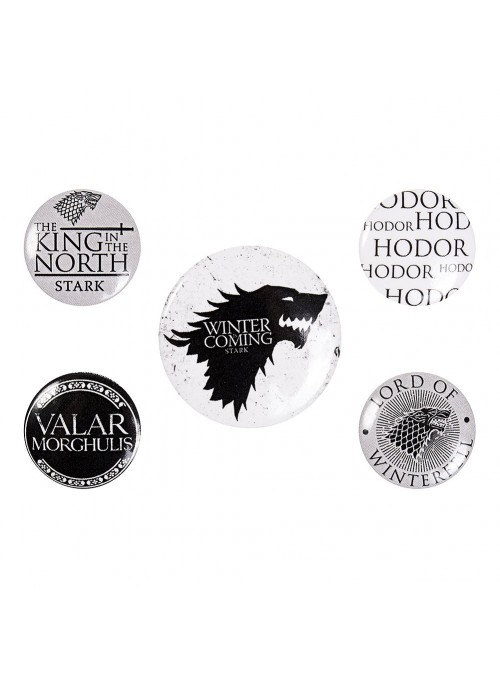 """Pack 5 Sheets """"Winter Is Coming"""" - Game of Thrones"""