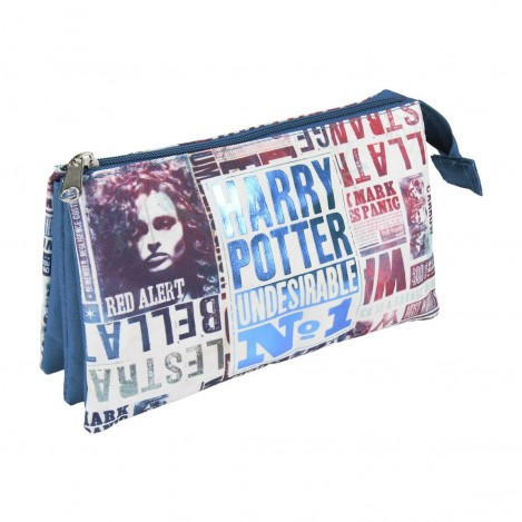 Estuche 3 compartimentos El Profeta - Harry Potter