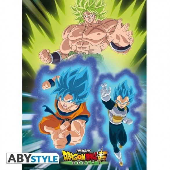 "Poster ""Broly vs Goku & Vegeta"" 52x38 - Dragon Ball"