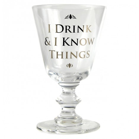 Copa de vino I Drink & I Know Things - Juego de Tronos