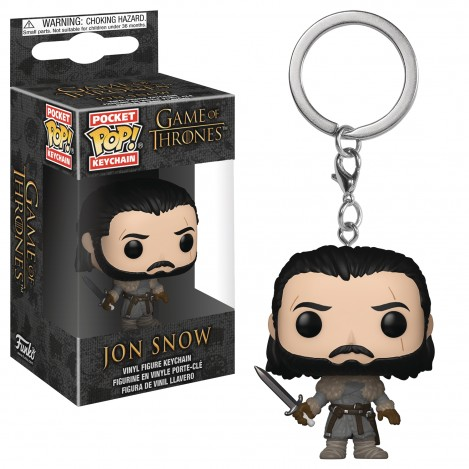 Llavero Pocket Funko POP Jon Snow Beyond the Wall - Juego de Tronos