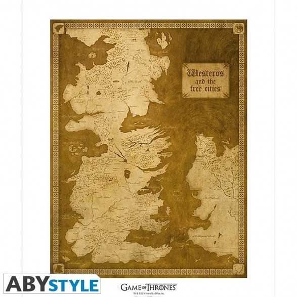Collector Artprint Of The Map Of Westeros Original Game Of Thrones