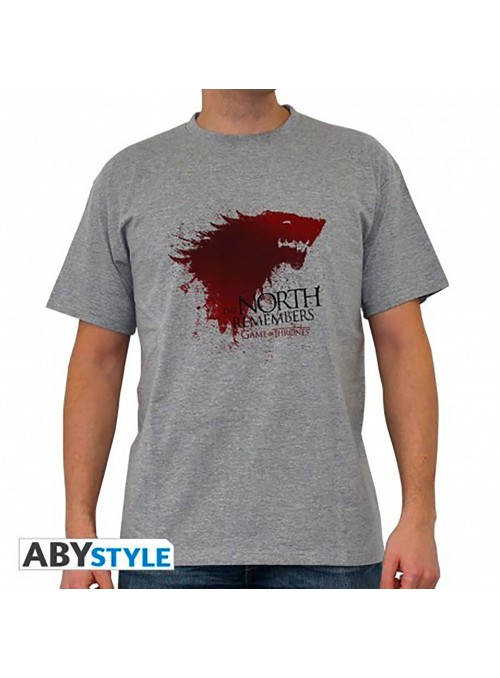 """Men's t-shirt """"The North Remembers"""" Grey - Game of Thrones"""