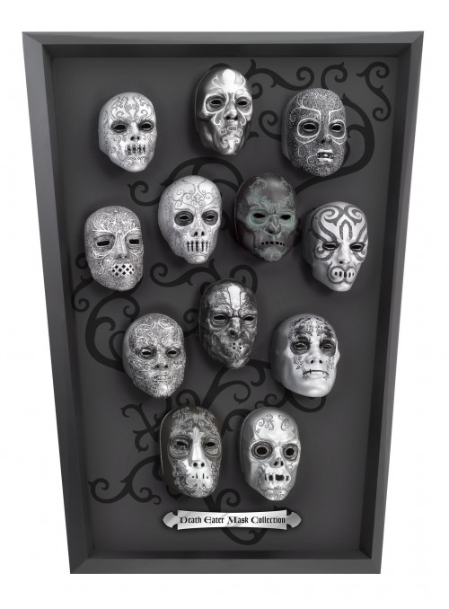 Collection of masks of the Mortifagos - Harry Potter