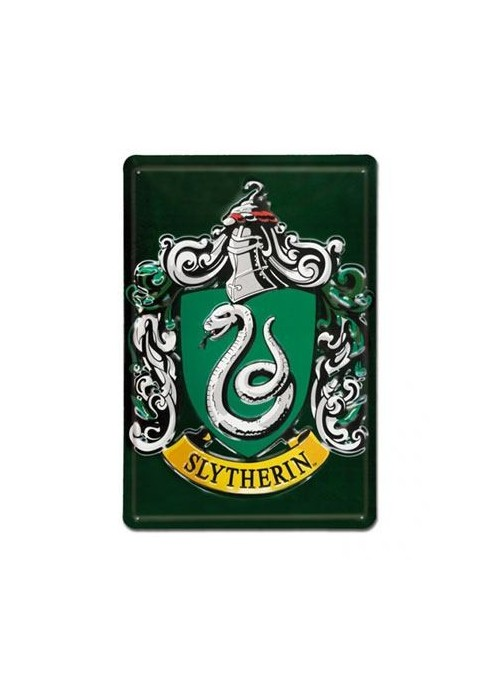 Placa de Chapa 3D Slytherin -. Harry Potter