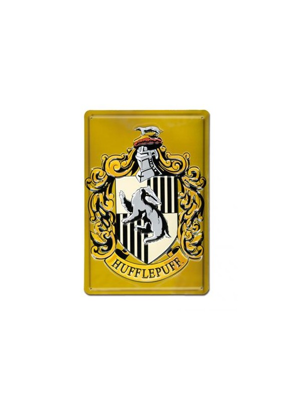 Placa de Chapa Hufflepuff - Harry Potter