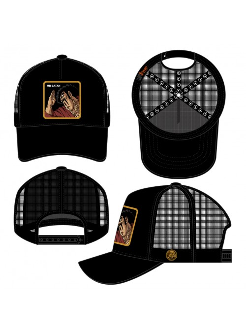Gorra Capslab negra Mr. Satan - Dragon Ball