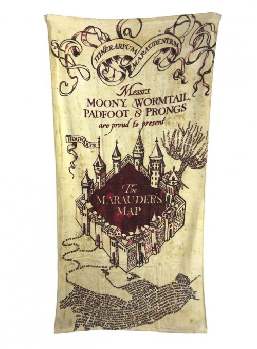 Toalla Marauder's Map 150 x 75 cm - Harry Potter