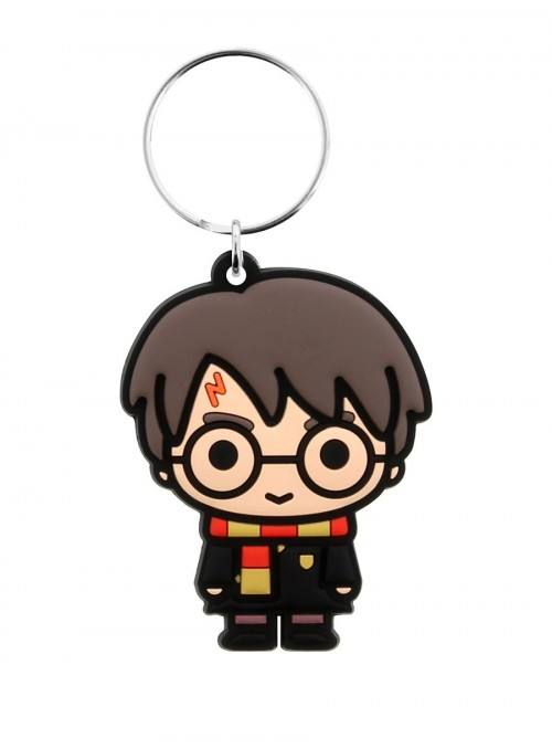 Chaveiro de borracha Chibi Harry 6 cm - Harry Potter