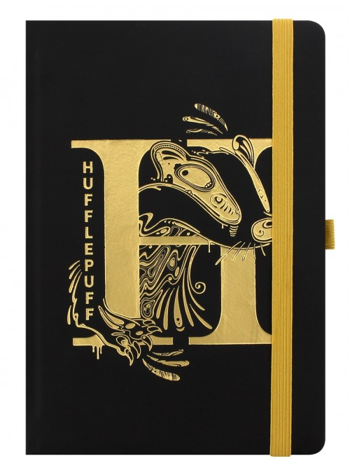 Cuaderno A5 Premium Hufflepuff Foil - Harry Potter