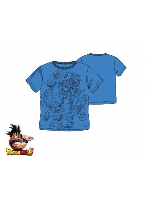Camiseta infantil azul Dragon Ball
