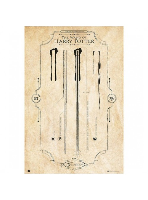 Poster Varita de Harry Potter